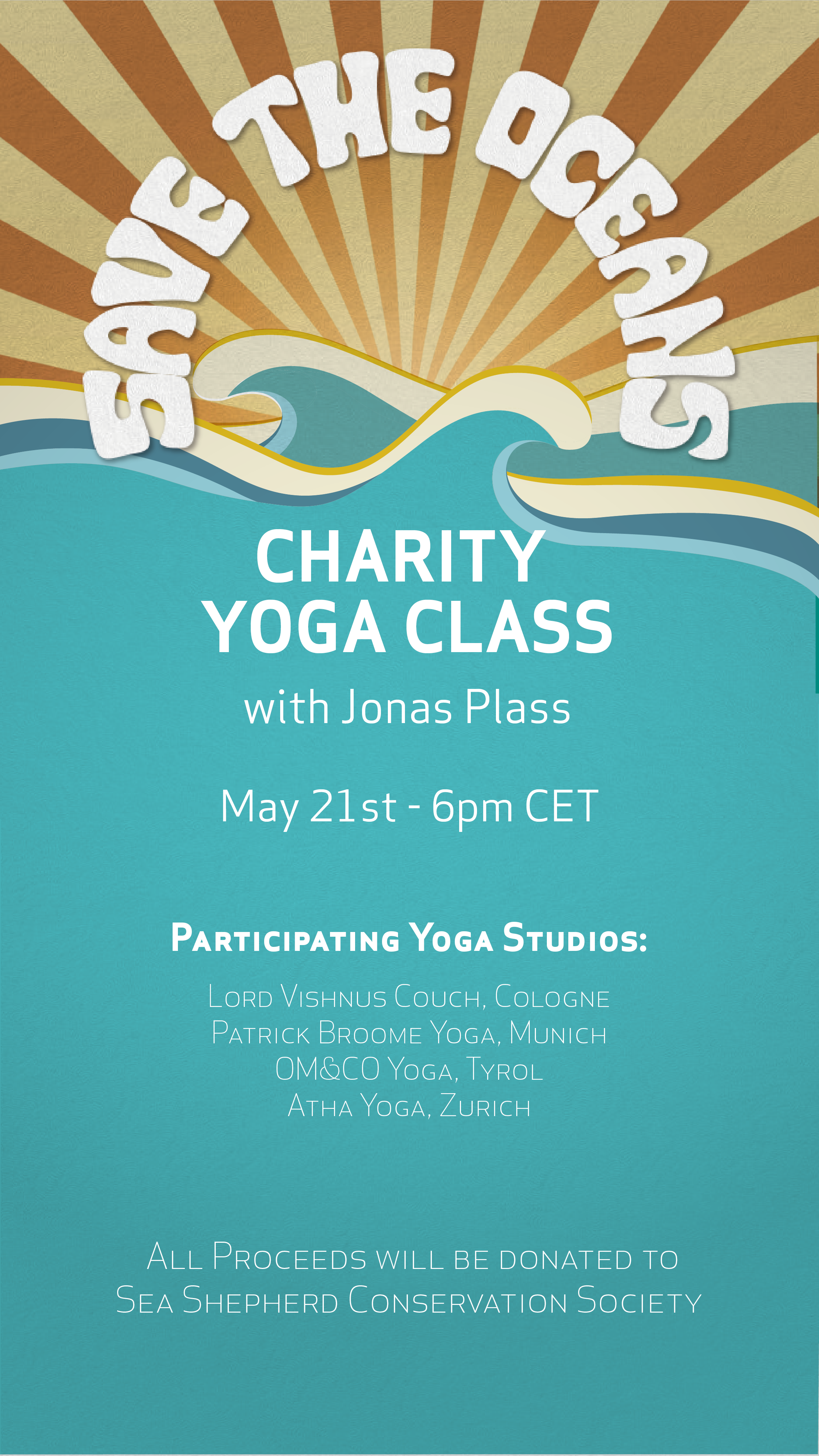 Save the Oceans - Charity Yoga Class mit Jonas Plass